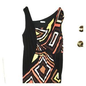 Asymmetric Warm Tones Dress